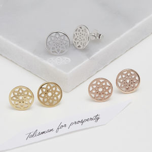 Dreamcatcher Stud Earrings For Prosperity