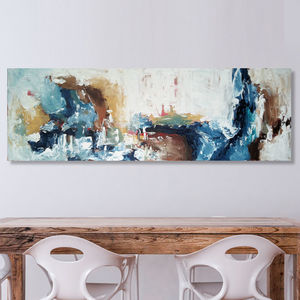 The Art Of Persuasion Original Abstract Painting 150x50 - canvas prints & art