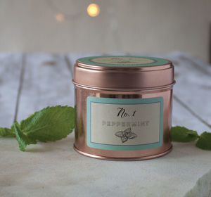 Natural Peppermint Scented Candle - home accessories