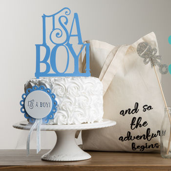It's A Boy Baby Shower Cake Topper
