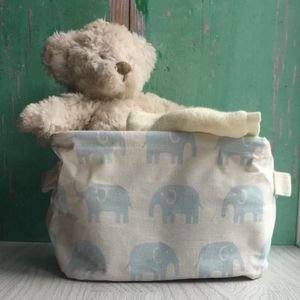 Blue Elephant Storage Basket