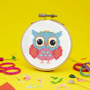 Retro Owl Mini Cross Stitch Craft Kit