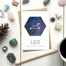 Leo Star Sign Constellation Birthday Card