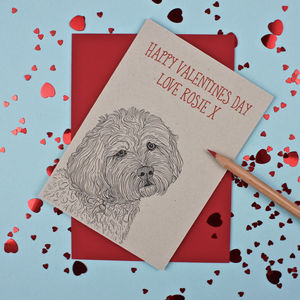 Cockapoo Valentines Day Card - personalised cards