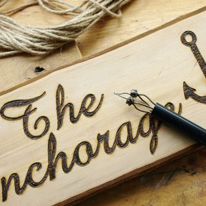 Personalised Woodland Wood And Driftwood Signs - art & decorations