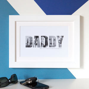 Personalised 'Daddy' Photograph Print - gifts for fathers