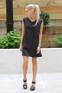Black Suede Dress - women's fashion sale