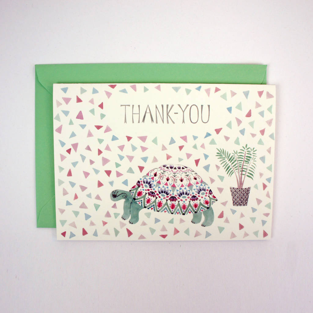 Tortoise Thank You Card