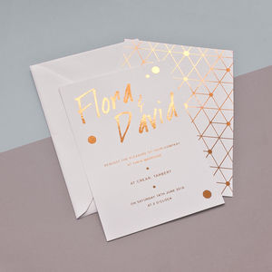 Urban Handwriting Foil Wedding Stationery - invitations