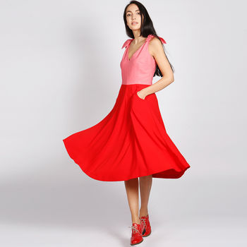 Bonbon 50s Style Dress Red Pink