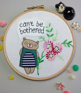 Grumpy Bear 'Can't Be Bothered' Hoop - animals & wildlife