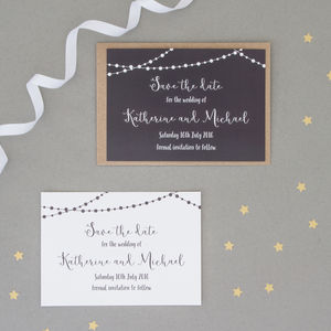 Fairy Lights Wedding Save The Date - save the date cards