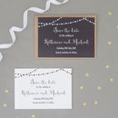 Fairy Lights Wedding Save The Date