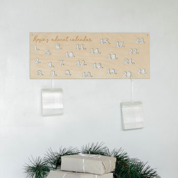Personalised Wooden Diy Advent Calendar