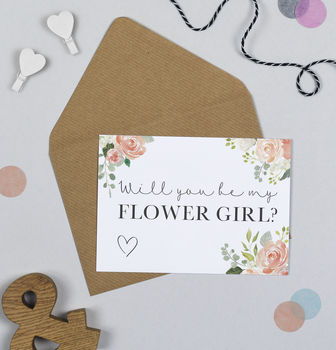 Manhattan Will You Be My Flower Girl Card