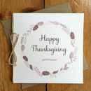 Leaf And Twine Thanksgiving Card