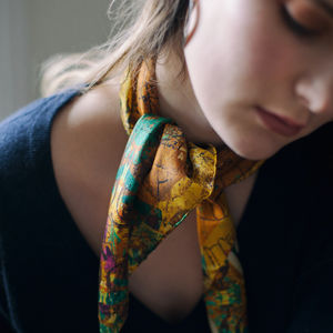 Pure Silk Scarf 'Henry' - womens