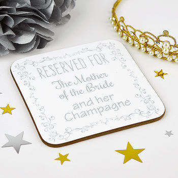 Personalised Mother Of The Bride Wedding Coaster