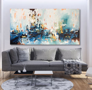 Large Original Acrylic Painting Canvas Art Abstract - what's new