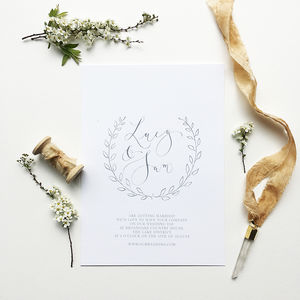 Laurel Wreath Illustrated Wedding Invitation - what's new