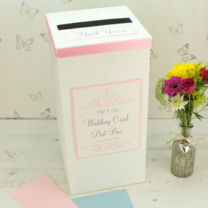 Personalised Leah Wedding Post Box - styling your day sale