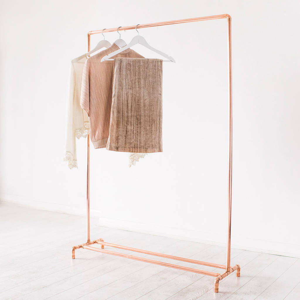 Copper Pipe Clothing Rail By Little Deer