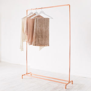 Copper Pipe Clothing Rail - storage