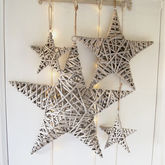 Willow Star Decoration - christmas decorations