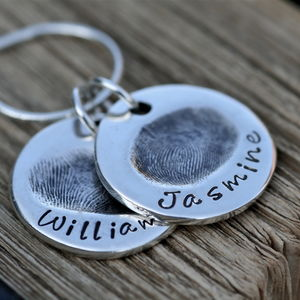 Double Coin Fingerprint Necklace
