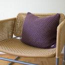 Strikk Hank Knit Bramble Stitch Cushion In Plum