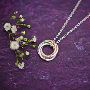 40th Gold And Silver Necklace