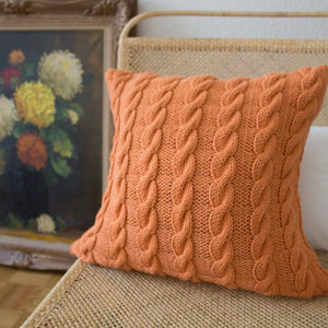 Strikk Hand Knit Plaited Cable Cushion - cushions