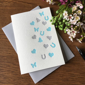 'Confetti' Letterpress Card - wedding, engagement & anniversary cards