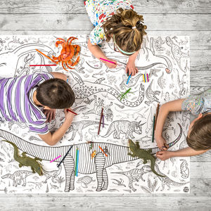 Colour In Giant Poster Tablecloth Dinosaurs