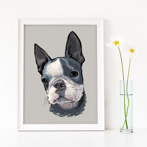 Custom Dog Portrait Art Print - pet-lover