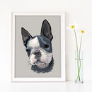 Custom Dog Portrait Art Print