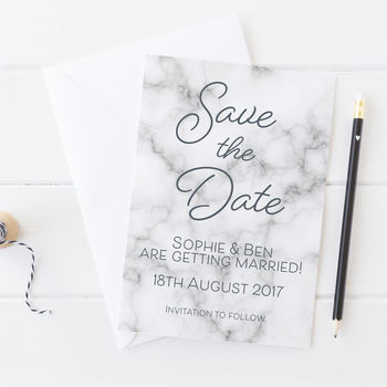 Marble Save The Date Cards