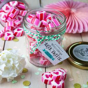 Valentine's Boozy Prosecco Elderflower Rock Sweets - valentine's gifts for him