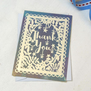 Metallic Tiny Thank You Notes Set Of 10 - winter sale