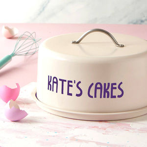 Personalised Dome Cake Tin - gifts for her