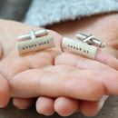 personalised mens cufflinks