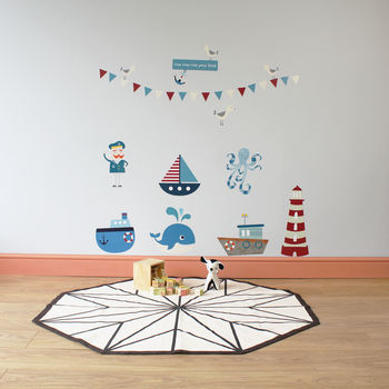 Row Your Boat Wall Stickers