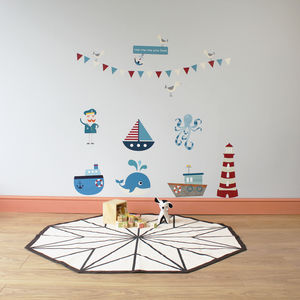 Row Your Boat Wall Stickers - wall stickers