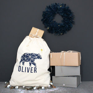 'The Polar Bear And The Star' Christmas Sack - gift bags & boxes