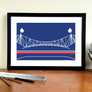 'Macron Stadium' Minimalist Bolton Wanderers Print - activities & sports