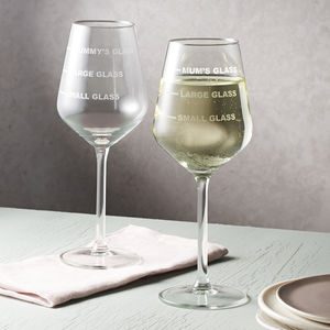 Personalised Drinks Measure Wine Glass - personalised mother's day gifts