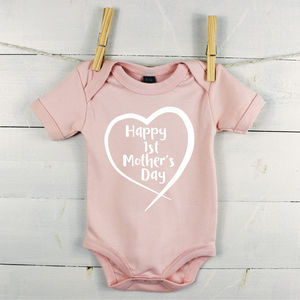 Happy First Mother's Day Babygrow - babygrows