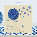 Butterfly Forever Remembered Card, Flower Memorial Card