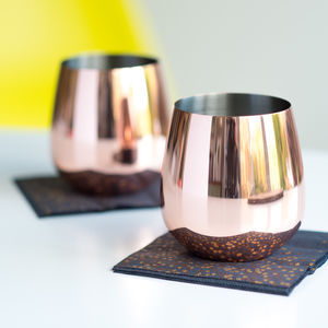 Rose Copper Tumbler Set