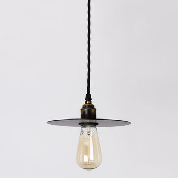 Small Black Disk Pendant Lamp